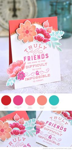 Truly Great by Dawn McVey for Papertrey Ink Cards For Friends, Friend Cards, Color Card, Ink Color, Colour, Scrapbook Cards, Scrapbooking 101, Diy Cards, Handmade Cards