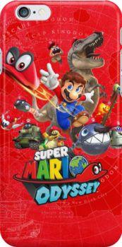 'Super Mario Odyssey Phone Cases & More' iPhone Case by AaronLlama Bolo Super Mario, Super Mario Games, Super Mario Art, Super Mario World, Jeux Nintendo 3ds, Nintendo World, Super Nintendo, Nintendo Games, Mario Y Luigi