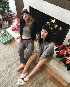 The sisters of the moment Gigi and Bella Hadid in our ASOS MW beanies. LOVE.