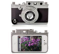 Gizmon iCA vintage rangefinder camera iPhone case.