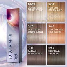 Bildresultat för illumina hair color shades