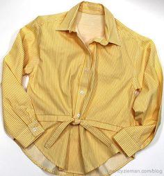 ideas para reciclar la camisa del esposo