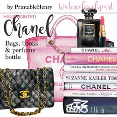 Fashion clipart Chanel clip art planner graphics pink Coco