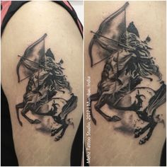 Sagittarius Tattoo Done at Mehz Tattoo Studio. Mumbai, India For more info follow us on insta: fanpage_mehztattoostudio_india