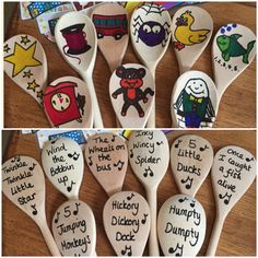 Nursery Rhyme Spoons #eyfs #nurseryrhymes #homemade