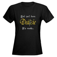 ABC Once Upon A Time TV Show Mr Gold Evil Isn't Born Dearie .. It's Made Black Graphic Tee T- Shirt