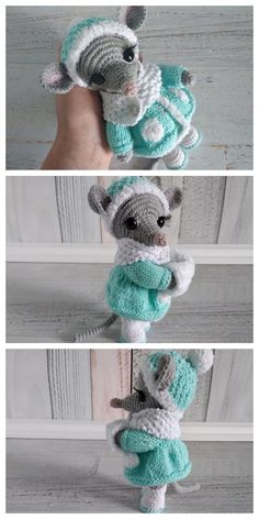 Educational and interesting ideas about amigurumi, crochet tutorials are here. Crochet Amigurumi Free Patterns, Crochet Animal Patterns, Stuffed Animal Patterns, Doll Patterns, Free Crochet, Crochet Geek, Crochet Mouse, Crochet Dolls, Crochet Hats