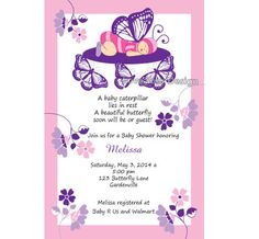Baby Butterfly Baby Shower  Invitation  jpeg by LoveYourDesign, $15.00