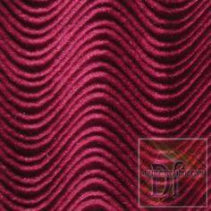 Burgundy Wave Velveteen www.distinctivefabric.com