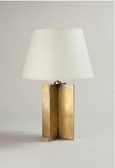 Jean-Michel Frank, Bronze Croisillon Table Lamp, c1928.