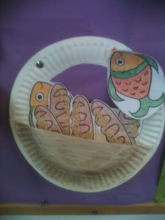 Lesson 50 Feeding Five thousand. this is the five loaves and two fishes that the boy had to feed the five thousand
