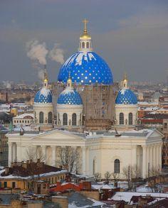 Trinity Cathedral, St Petersburg, Russia --- Yep, that looks like the Russia in my head :/