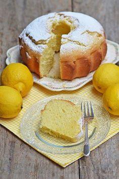 gâteau, citron, crème fraîche,