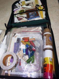 My traveling art kit art case, arts and crafts, diy crafts, travel kits, va Fantasy Girl, Hawaii Maui, Art Nouveau, Art Gallery, Bath And Beyond Coupon, Art Case, Good Healthy Snacks, Travel Kits, Travel Scrapbook