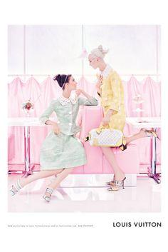 Louis Vuitton SS 2012 by Steven Meisel  Models: Kati Nescher & Daria Strokous