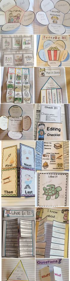 First Grade Writing Notebook Projects. This notebook is jam-packed with writing lessons for the whole year. Includes ideas for beginning writers, grammar, opinion, narrative, informative, how-to, and much more!