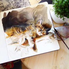 Watercolorist: @katya_mihailina_07#waterblog #акварель #aquarelle #drawing #art #artist #artwork #painting #illustration #watercolor #aquarela
