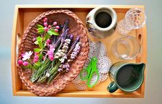 Montessori Practical Life and Botany: flower arranging activity (by Modern Parents Messy Kids).