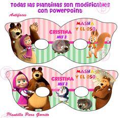 Kit Imprimible Masha Y El Oso, Cajitas Invitaciones, Fiesta - $ 49,99