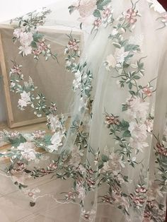 Excited to share the latest addition to my shop: Fresh Green champagne fine embroidery lace fabric for wedding gown bridal dress haute couture prom dress making Bridal Dresses, Wedding Gowns, Flower Girl Dresses, Prom Dresses, Couture Dresses, Wedding Ceremony, Shabby Chic Curtains, Lace Curtains, Embroidered Lace Fabric