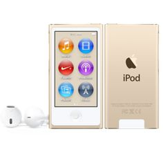 New 8th Gen iPod nano Gold - Exactly the same as 7th gen, only difference is color. From 7th gen I want purple, from 8th gen I want gold <3