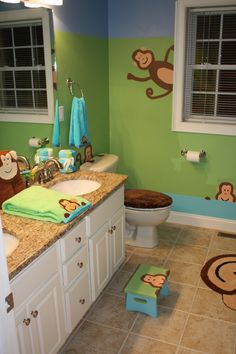 wallpaperstogo.com WTG-022942 Blue Mountain Transitional Wallpaper >> monkey  bathroom possibilities