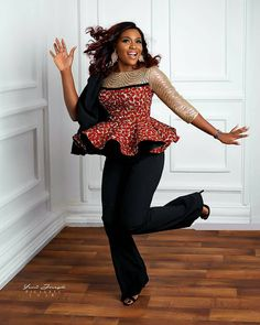 Collection of the most beautiful and stylish ankara peplum tops of 2018 every lady must have. See these latest stylish ankara peplum tops that'll make you stun African Fashion Designers, Latest African Fashion Dresses, African Print Dresses, African Print Fashion, Africa Fashion, Ankara Fashion, African Dress, African Prints, Fashion Outfits