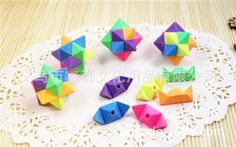 Diamond Shape Rubiks Cube Cute Puzzle Erasers Novelty Fun Kids Rubbers Party Gift Bag Fillers