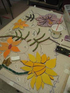 Kefa Mural flowers by Institute of Mosaic Art, via Flickr