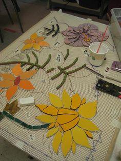 Kefa Mural flowers by Institute of Mosaic Art, via Flickr