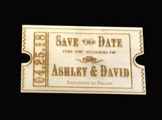 Personalized Rustic Country Wooden Ticket by ExclusivelyYourLLC