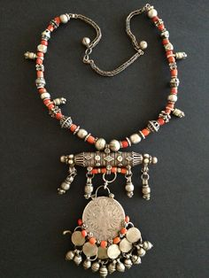 Yemen   Silver and red coral necklace.   © Jose M Pery.