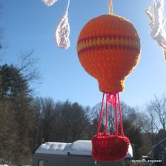 Picture of Crocheted Hot Air Balloon Mobile