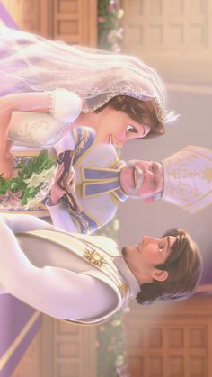 Mom and dad wedding💝 Disney Couples, Disney Girls, Disney Love, Wallpaper Animes, Disney Phone Wallpaper, Disney Rapunzel, Tangled Rapunzel, Disney Images, Disney Pictures