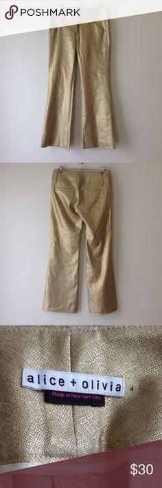 NEW ALICE + OLIVIA WIDE LEG GOLD PANTS NEW ALICE + OLIVIA WIDE LEG GOLD PANTS Alice + Olivia Pants Wide Leg