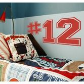 Found it at Wayfair - Varsity Numbers Wall Decal
