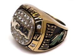 A University of North Texas Sun Belt Conference men's basketball championship ring.