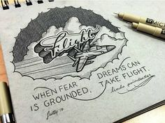 When Fear Is Grounded Dreams Can Take Flight -From@prspctv_cllctv . . . #pixelsurplus #typography #type #dailytype #thedailytype #typelove #typedesign #typematters #typeeverything #artoftype #inspiration #goodnight #typespire #typegang #thedesigntip #goodtype #design #graphicdesign #dreams #designer #designers #artist #imagine #quotes #quoteoftheday #quote #handlettering #handdrawn #handlettered