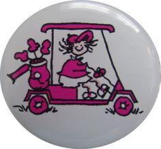 Check out our Golf Cart Golf Gals Pink BOG Ball Marker & Shiny Nickel Visor Clip! Find the best golf gear and accessories at Lori's Golf Shoppe. Click through now to see this!