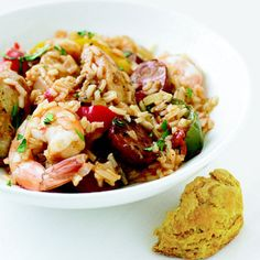 Chicken, Shrimp, and Sausage Jambalaya - Delish.com