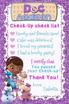 Doc McStuffins Invitation Doc McStuffins Birthday by CutePixels
