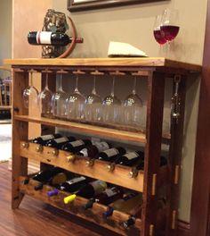Madera nativa vino estante estante del vino por BlackCreekRidge