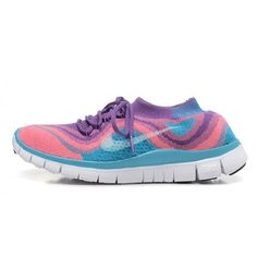 Nike Free Flyknit 5.0 Couples shoes Purple / Pink / Blue $88