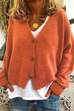 Cardigan Long, Long Sleeve Sweater, Winter Cardigan, Sweater Shop, Sweater Coats, Tunic Sweater, Plus Size Pullover, Loose Knit Sweaters, Casual Sweaters