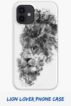 A cool smoky design of a lion for big cat lovers. Purrfect phone case for lion lovers! #catdadphonecase #bigcatlover #lionlover #catloverphonecase #catownerphonecase #lionphonecase Cat Lover Gifts, Cat Lovers, Smoke Mask, Cat Dad, Big Cats, Lion, Phone Cases, Face, Design
