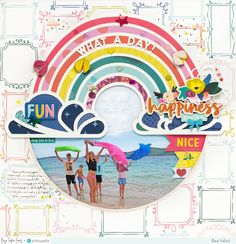 Rainbow Layout by Bea Valint | Paige Taylor Evans