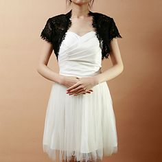 Wedding++Wraps+Shrugs+Short+Sleeve+Lace+As+Picture+Shown+Wedding+/+Party/Evening+Open+Front+–+USD+$+27.99