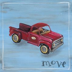 Oopsy Daisy Move Stretched Canvas Wall Art