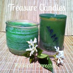 DIY Treasure Candles These DIY Treasure Candles have secret treasures inside waiting to be discovered. You can make them with recycled materials.