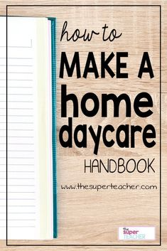 A parent handbook is the best way to share your business practices with your daycare parents. It introduces your child care program to your clients, a Daycare Business Plan, Business Ideas, Business Planning, Meal Planning, Opening A Daycare, Home Childcare, Childcare Activities, Educational Activities, Parent Handbook